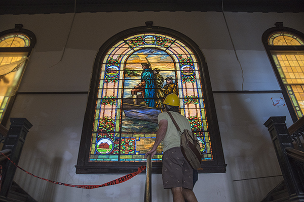 Renovation work at the old SCPA managed to keep historic touches like stained glass