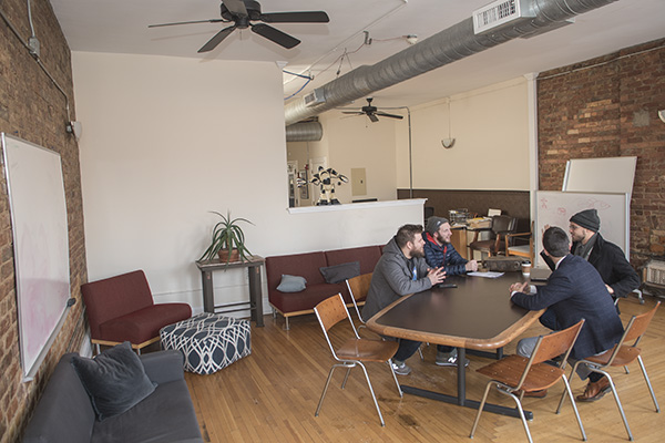 "Playground Coworks in Northside aims for a ""living room with desks"" vibe."