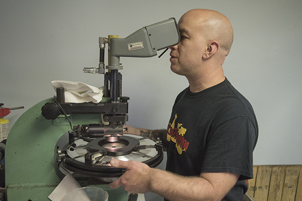QCA's Bryan Dilsizian in the middle of creating a record.