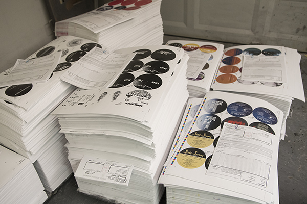 Labels ready for records at QCA.