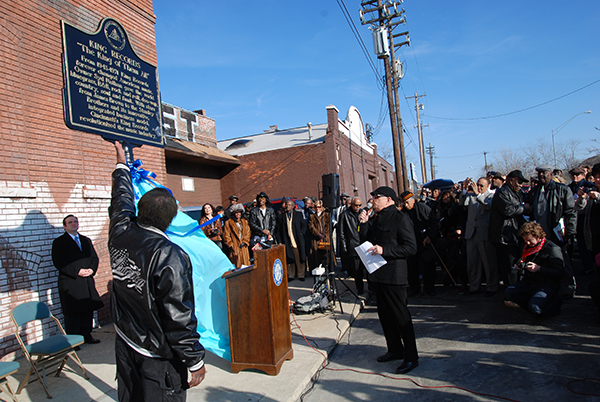 Unveiling of King Records commemorative plaque.