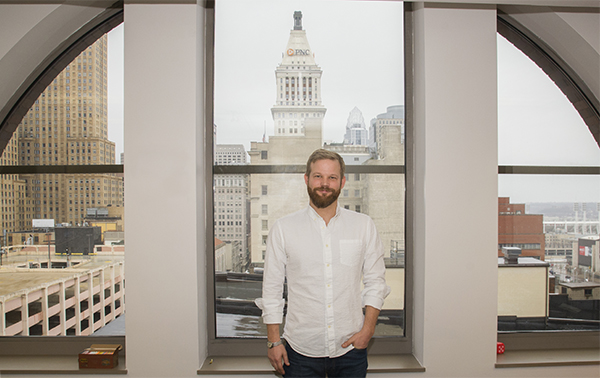 Co-founder and Design Director Ramsey Ford in Design Impact's downtown offices
