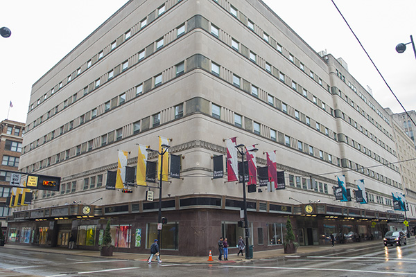 Much of Cincinnati's dowtown architecture was once home to sprawling department stores.