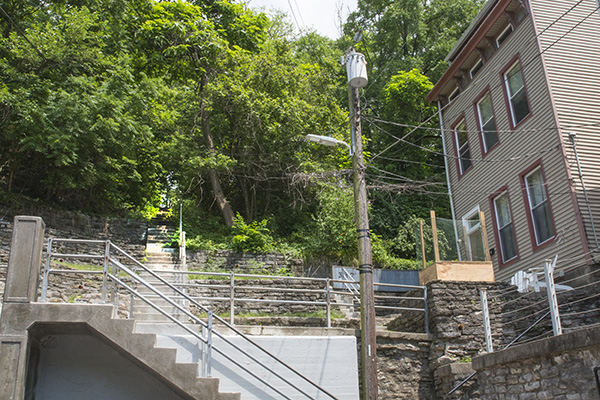 Emming Street steps off of Ravine Street in lower Fairview/Clifton Heights