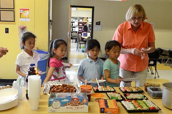 Academy of World Languages hosted a year-end buffet for students and families