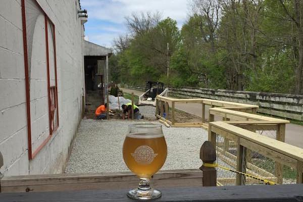 The Little Miami Scenic Trail starts in Springfield and stretches all the way to Newtown. On its way, it passes through Yellow Springs, where you can ride your bike from the trail right up to Yellow Springs Brewery.