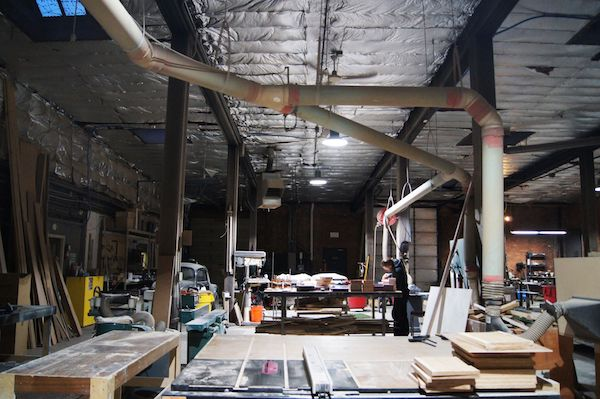 Such and Such was able to take advantage of an industrial space in OTR for its workshop.