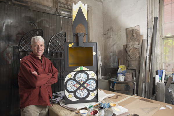 Pantry artist Bob Dyehouse in his Sycamore studio.