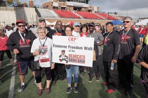 Exonerees participated in the Freedom Walk on Oct. 1.