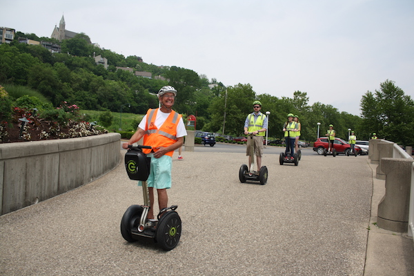 Segway tours from The Garage OTR utilize the Ohio River Trail on a daily basis.