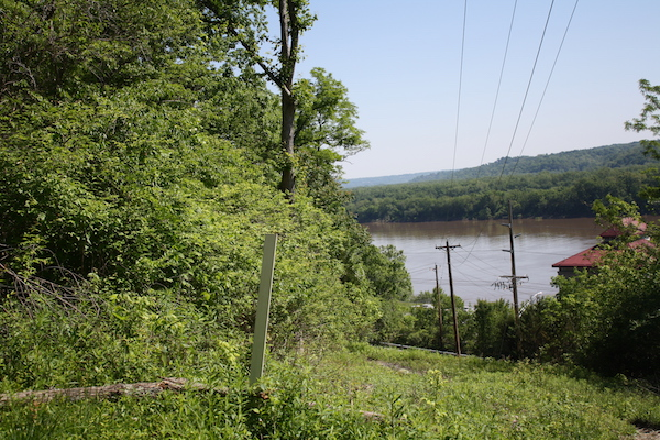 From the base of Tower Park, you can hear the traffic along Rte. 8 and see the Ohio River.