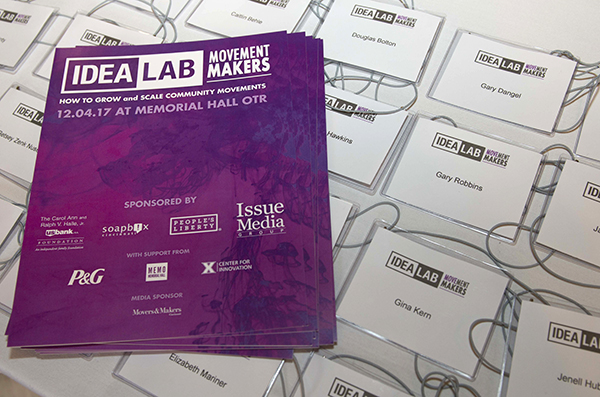 "The theme for IDEALAB 2017 was ""Movement Makers."""