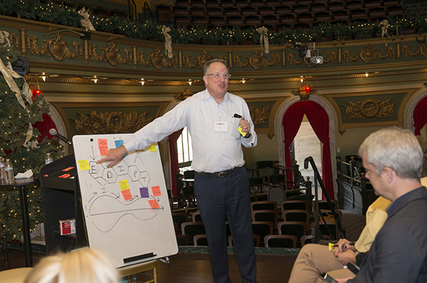 Tom Merrill from Xavier's Center for Innovation served as another breakout session leader.