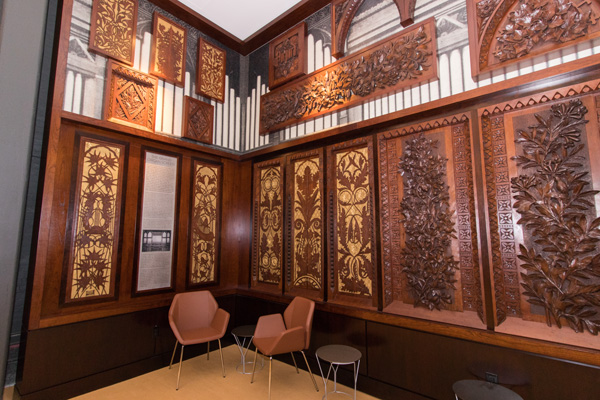 The new Taft Suite features beautifully restored panels from Music Hall's original massive Hook & Hastings organ.