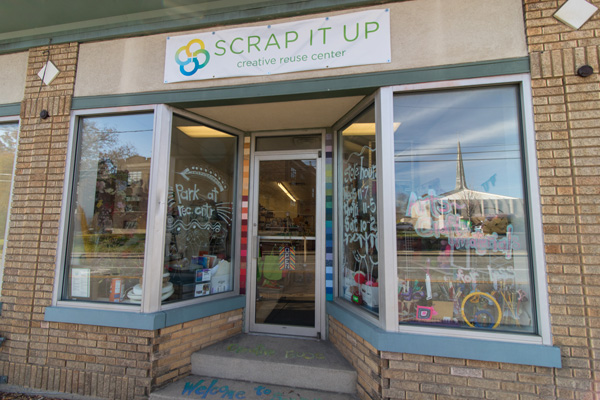 Scrap It Up in Pleasant Ridge sells secondhand creative supplies.