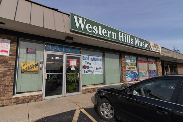Western Hills Music sells refurbished instruments to local students at deep discounts.