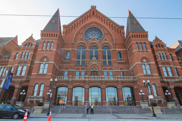 Cincinnati Music Hall, one of Hannaford's best-known and most celebrated designs.