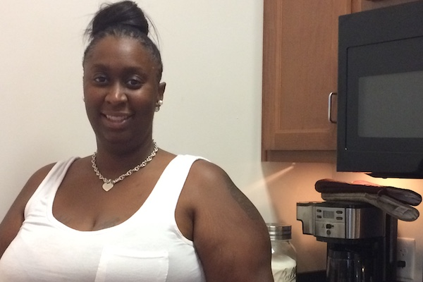 """Moving here has been the best thing for me,"" says Scholar House resident Teasa Johnson."