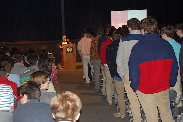 Awareness and sensitivity programming at the all-male Moeller High School.