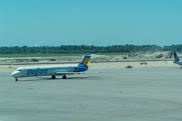 Low-cost carriers like Allegiant Air make the airport more accessible for leisure travelers.