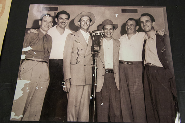 Hank Williams (third from left) during a recording session at Cincinnati's Herzog Studios.