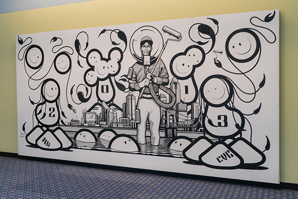 Mural by London Police at CVG