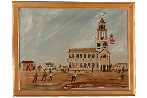 Looting the Old South Church (c. 1854), attributed to John Hilling, oil on canvas.