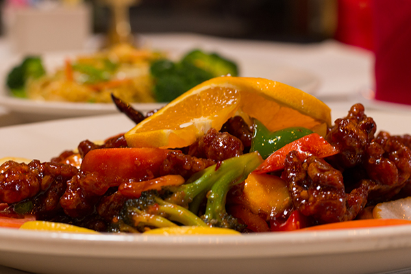 Oriental Wok serves comfort classics like orange beef and shrimp chow mein.