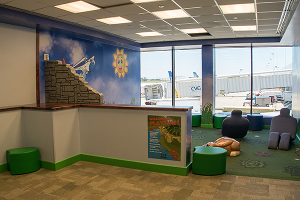 Areas for children's play are among service upgrades at CVG in recent years.