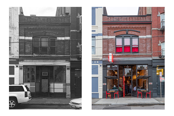 Another Drawing Dept design, Revel OTR, before and after.