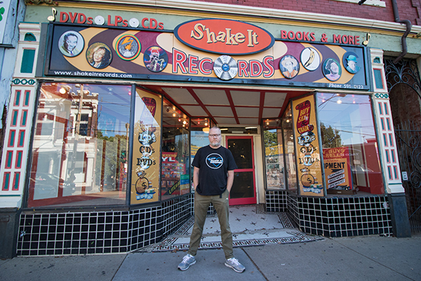 Blase and his brother opened Shake-It in 1999; it's now a destination record store and venue.