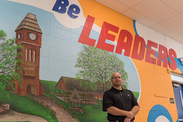 Glenn O. Swing principal Scott Alter works hard to make sure his students succeed.