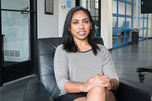 """Poverty makes it difficult to learn,"" says Natasia Malaihollo, founder and CEO of Wyzerr."