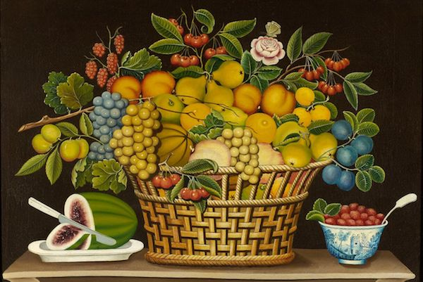 Still Life with Basket of Fruit (c. 1830-50), artist unidentified