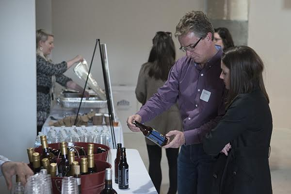 Guests enjoyed refreshments from Listermann Brewing and light bites from Just Q'in.