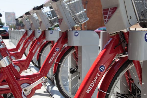 Cincy Red Bike's presence has grown from a handful of racks to about 100,000 annual rides.