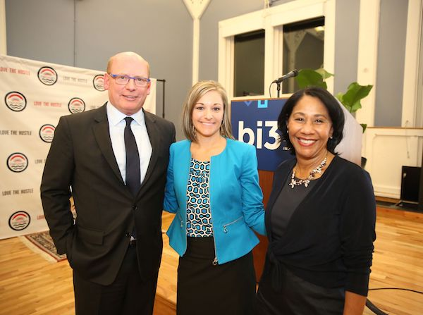 Mark Holcomb, chair of Bethesda, Inc.; Jill Miller, president of Bethesda, Inc.; Yvonne Washington, grants committee chair of bi3