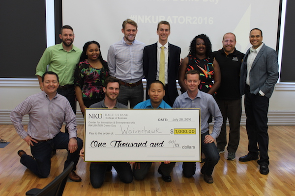 Waiverhawk received $1,000 in seed money after Demo Day at the Inkubator.