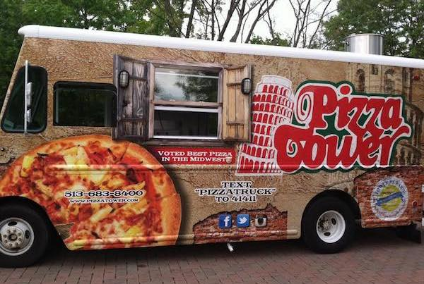 Local restaurant Pizza Tower added a food truck in 2014.