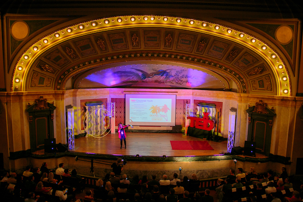 "The theme for the TEDxCincinnati event in 2014 was ""Vibrant Curiosity."""