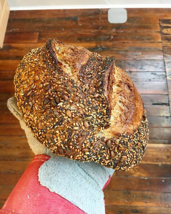 Allez Bakery's seeded sourdough is a twist on the classic sourdough bread found at most bakeries.