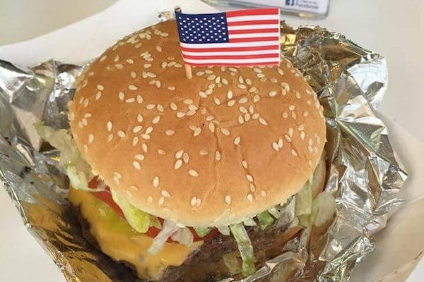Patriot Grill's customer favorite, the Patriot Burger