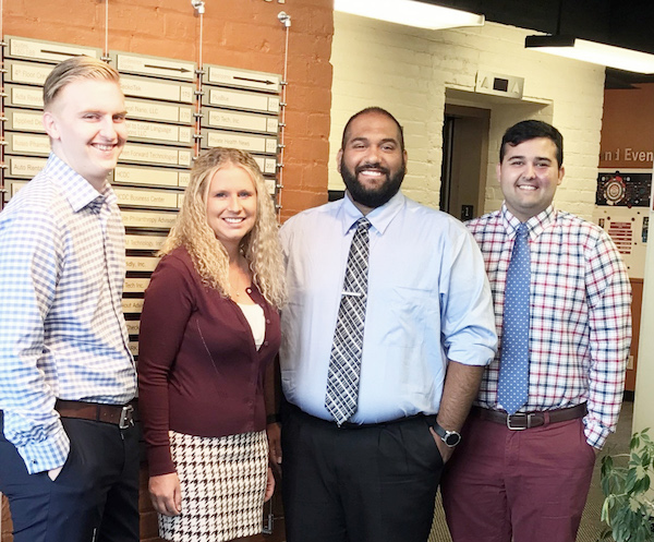 UC Law students Nate Rose, Brittany Guenther, Maximilian DeLeon and Alex Valdes.