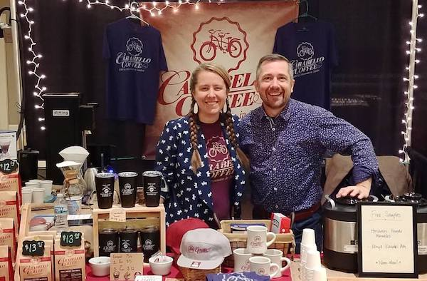 Emily and Justin Carabello, owners of Carabello Coffee in Newport.