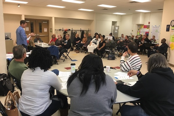 Residents gather in Walnut Hills to discuss food insecurity post-Kroger.