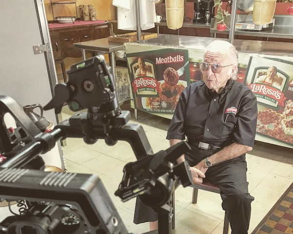 Interviewing Buddy LaRosa, founder of LaRosa's Pizzeria.