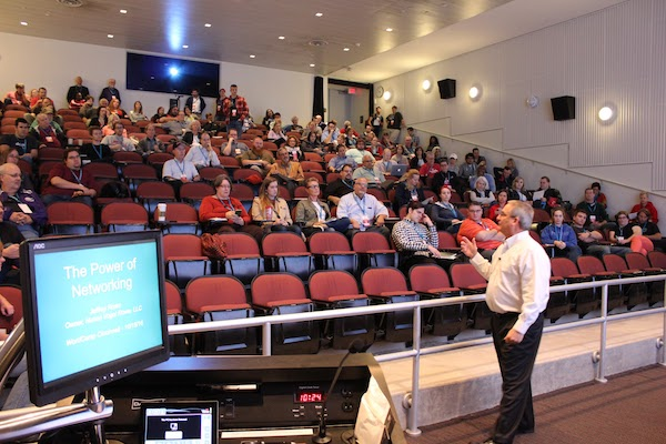 Attendees listen to speaker Jeff Rowe at last year's WordCamp.