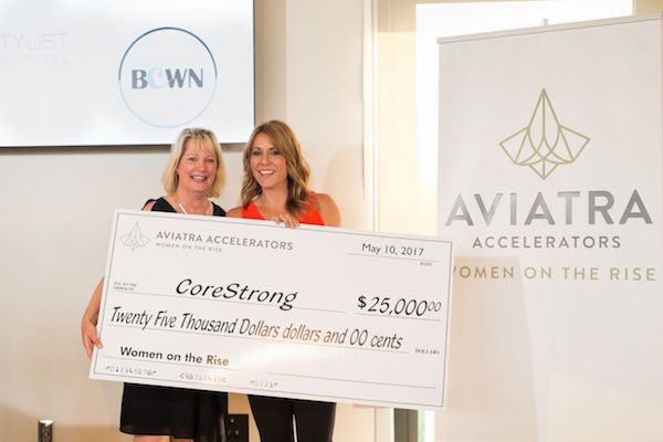 Stephanie Tieman's CoreStrong fitness center took home the night's big prize.