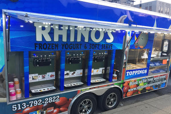 Rhino's Frozen Yogurt allows customers to fully customize their frozen concoctions.