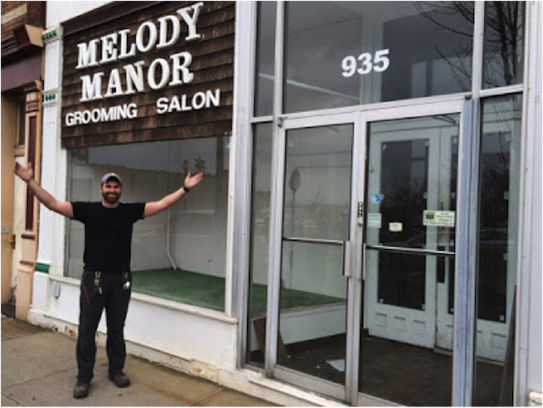 Michael Smith outside of the new home for Eighty Twenty prior to renovations.